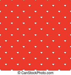 Seamless polka dot red pattern with hearts