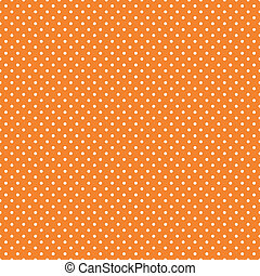 Seamless Polka Dots, Bright Orange - Seamless pattern, small...