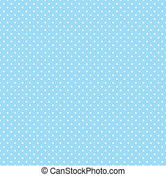 Seamless Polka Dots on Pastel Aqua - Seamless pattern, small...
