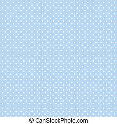 Seamless pattern, small white polka dots, pastel blue background for arts, crafts, fabrics, decorating, baby albums, scrapbooks. EPS8 includes pattern swatch that will seamlessly fill any shape.