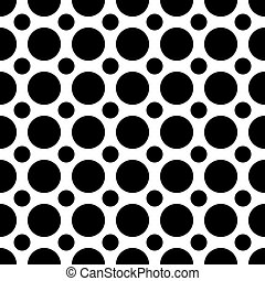Seamless Polka Dots Pattern - A seamless pattern of...