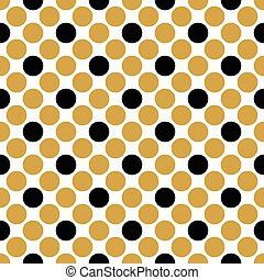 Seamless polka gold pattern