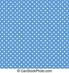 Seamless polka hearts pattern