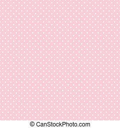seamless, polka prik, på, pastel, lyserød
