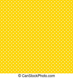 seamless, polka- punkte, hell, gelber