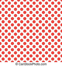 Seamless polka red dots white back
