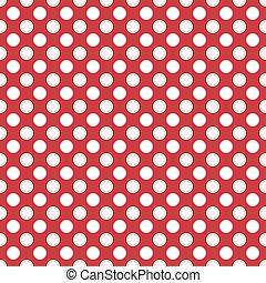 Seamless polka white dots red back