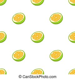 seamless, pomelo, coloré, illustration, thème, grand