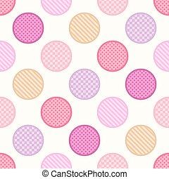 seamless, pontos polka, fundo
