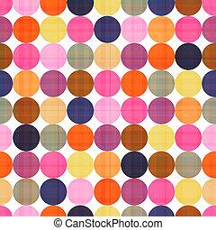 seamless, pontos polka, padrão