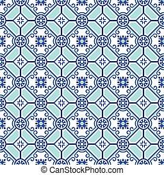 Seamless pottery pattern