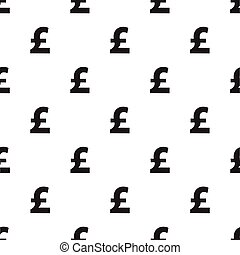 Seamless pound currency pattern on white