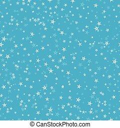 seamless, próbka, od, dużo, płatki śniegu, na, błękitny, tło., boże narodzenie, zima, temat, dla, dar, wrapping., nowy rok, seamless, tło, dla, website.