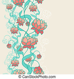 seamless, próbka, z, abstrakcyjny, flowers.