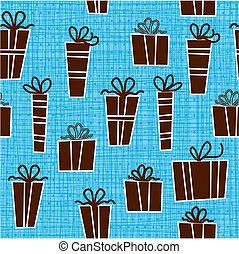 seamless presents pattern