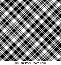 seamless, pretas, tartan, textura, padrão, relógio, tecido