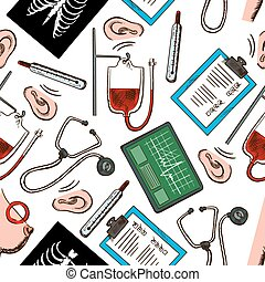 Seamless preventive medicine background pattern