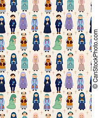 seamless priest pattern