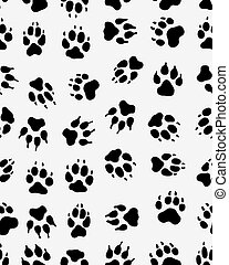 Seamless  print of dogs paws