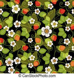 seamless, printemps, modèle floral