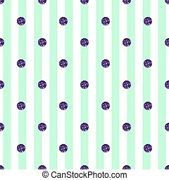 seamless purple dot glitter pattern on green stripe background