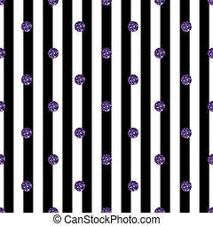 seamless purple dot glitter pattern on stripe background