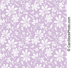 Seamless purple floral background