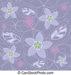 Seamless purple floral pattern