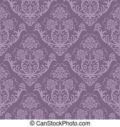 Seamless purple floral wallpaper - Seamless purple floral ...