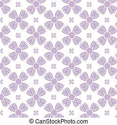 Seamless purple flowers pattern background