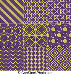 seamless purple gold pattern