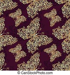 Seamless purple-gold pattern