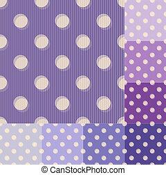 seamless purple polka dots pattern