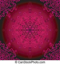 Seamless purple vintage pattern