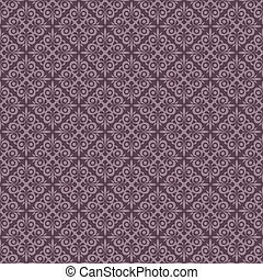 Seamless purple vintage vector wallpaper pattern.