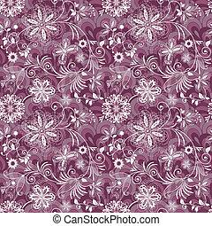 Seamless purple-white vintage pattern