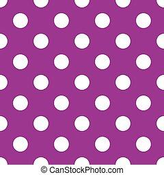seamless, purpurowy, kropka polki, backgroun