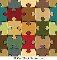 seamless, puzzel, -, leicht, änderung, farbe