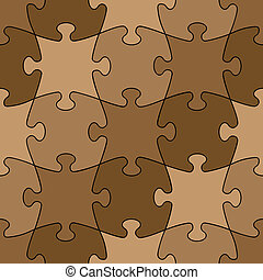 seamless puzzle - easy change color
