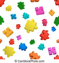 Seamless puzzle on white background