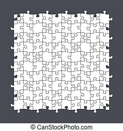 Seamless Puzzle Template 10x10