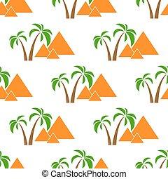 seamless, pyramider, isolerat