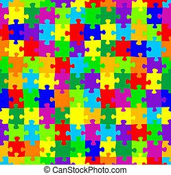 seamless, quebra-cabeça, padrão