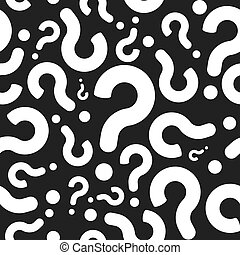 Seamless Question Mark Pattern Background