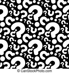 seamless question pattern and background vector illustration