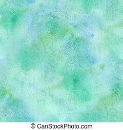 seamless, résumé, bleu/vert, aquarelle, arrière-plan.