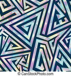seamless, résumé, labyrinthe, pattern.