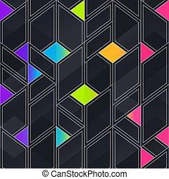 seamless, résumé, mosaïque, pattern.