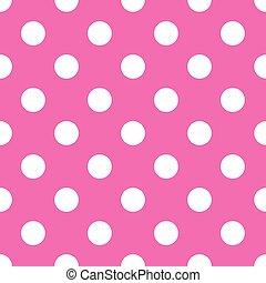 seamless, różowy, kropka polki, tło