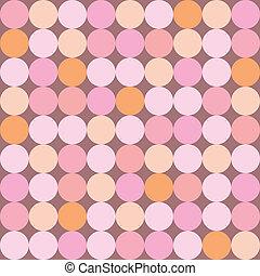 seamless, różowy, kropkuje, wektor, próbka